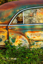 1950's coup, junk yard car, old car, time gone by gallerie