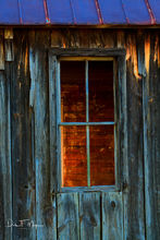 a time gone by gallerie, old house and window, rural Arkansas, vertical