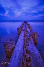 Costal,Folly Beach,Pier,South Carolina,blue hour