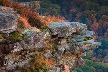 Arkansas,Mountain Rock Outcrop,Mountains and Overlooks Gallerie,bluff overlook,mt magazine,sunset, moss, grasses
