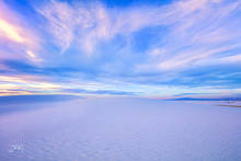 New Mexico, White Sands National Park, sunset