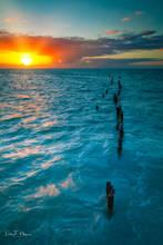 higgs beach,key west,ocean,piers,sunrise