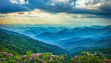 Mountains and Overlooks Gallerie, bllue ridge mountains, rhododendrons, spring 2018