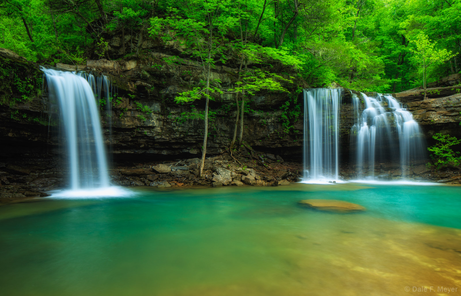 Richland Creek Arkansas, Spring 2016, Twin Falls