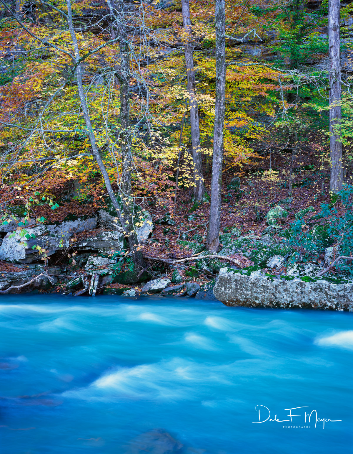 Fast Water,Mulberry River North Arkansas,fall, photo