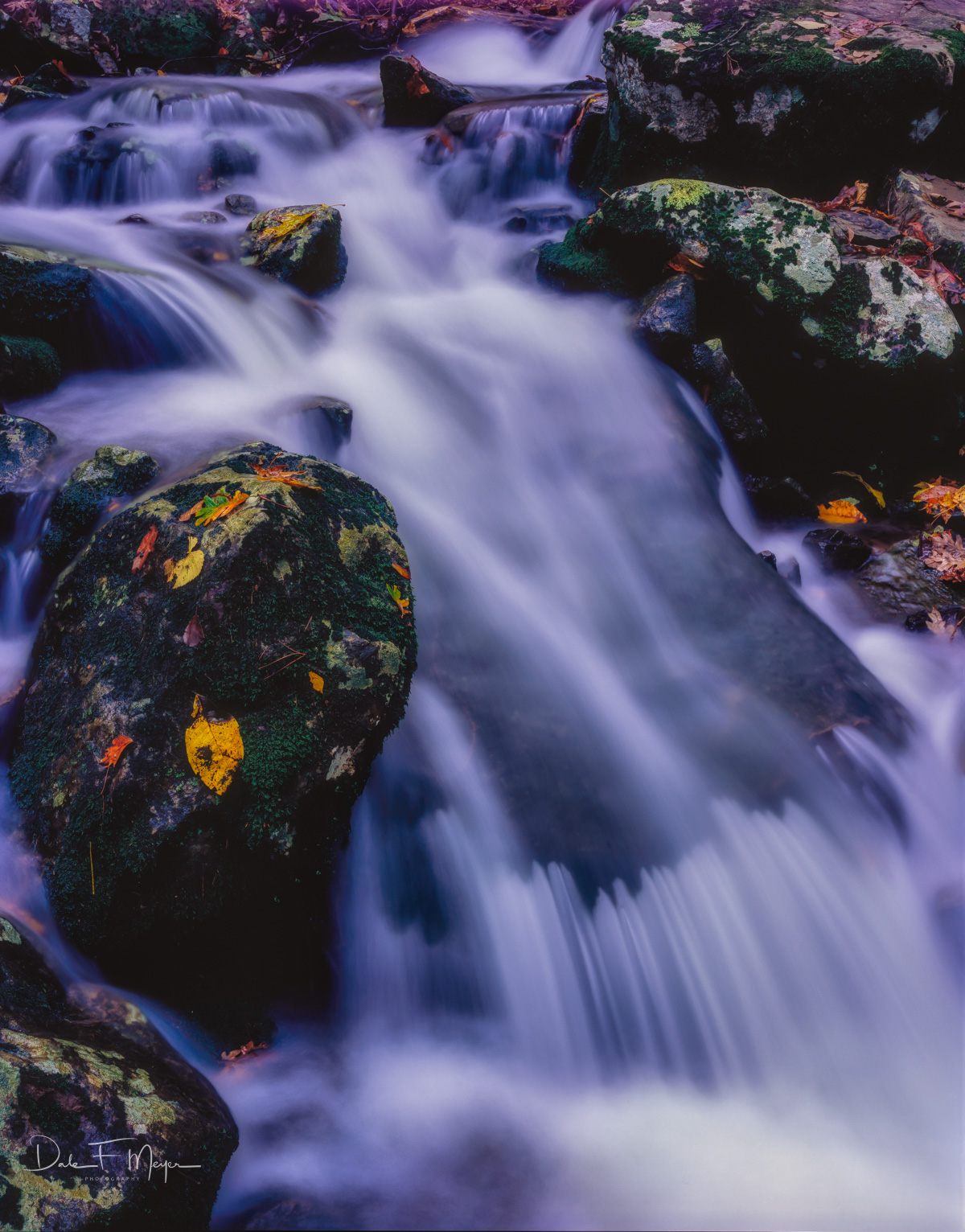 4X5 Fuji 50 Slide Film, Thunder Canyon, buffalo National river, rivers streams and waterfalls gallerie, spring 2009, photo