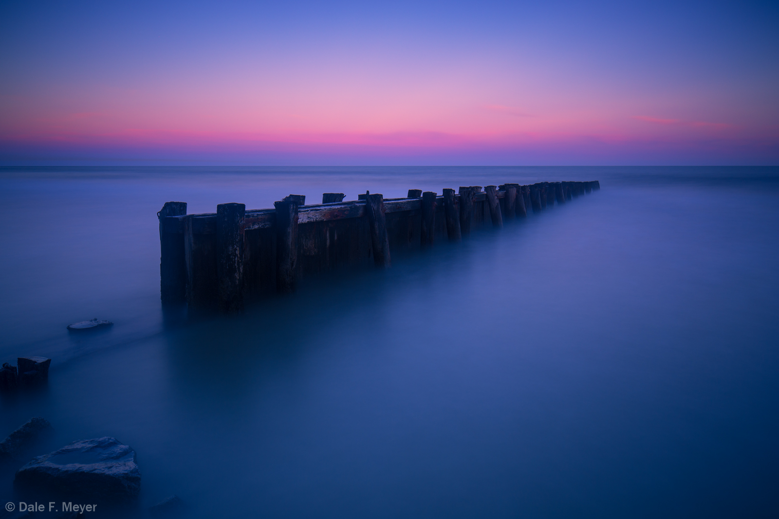 Costal,Pier,long exposure,sunset