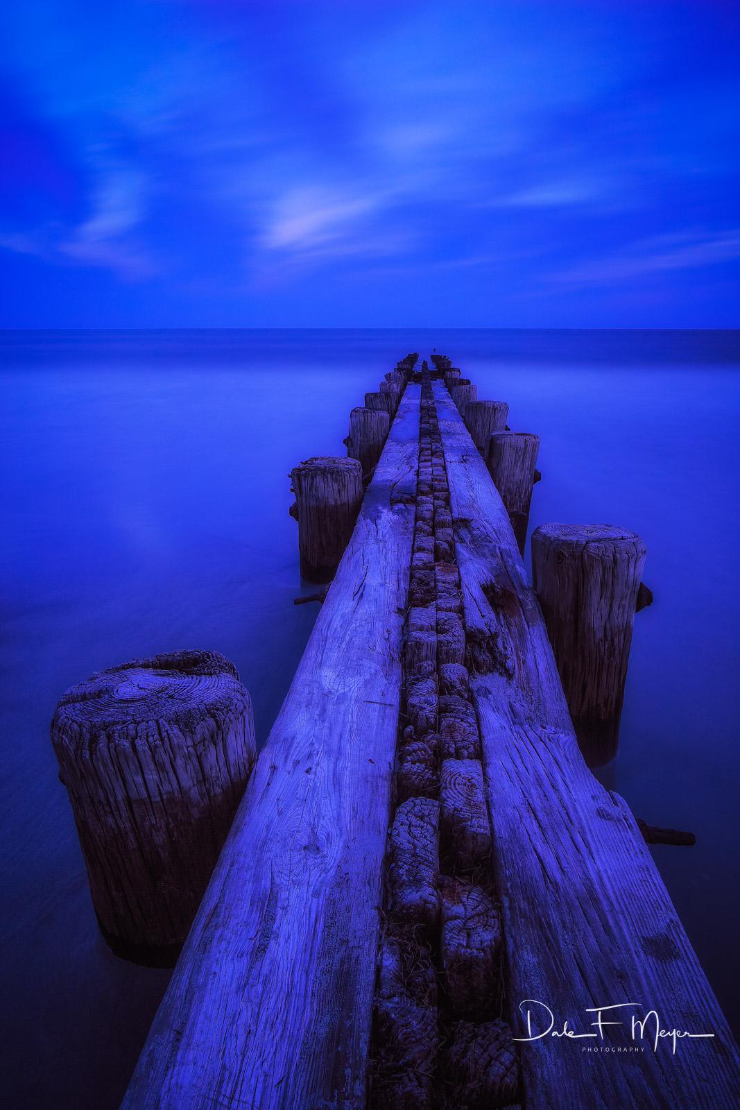 Costal,Folly Beach,Pier,South Carolina,blue hour, photo