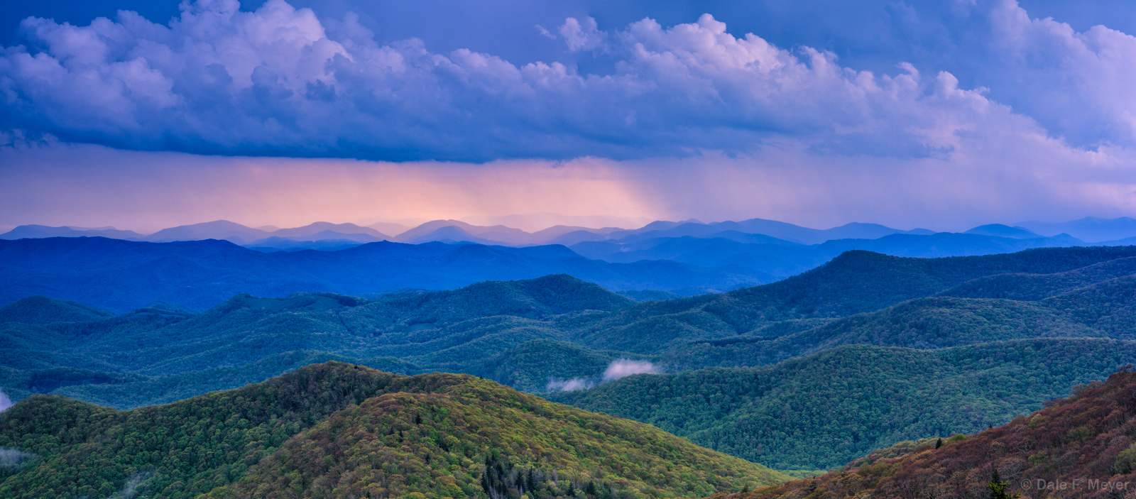 Blue Ridge Parkway, Mountains,Rain Storm, Spring 2013, North Carolina, Thunder, photo
