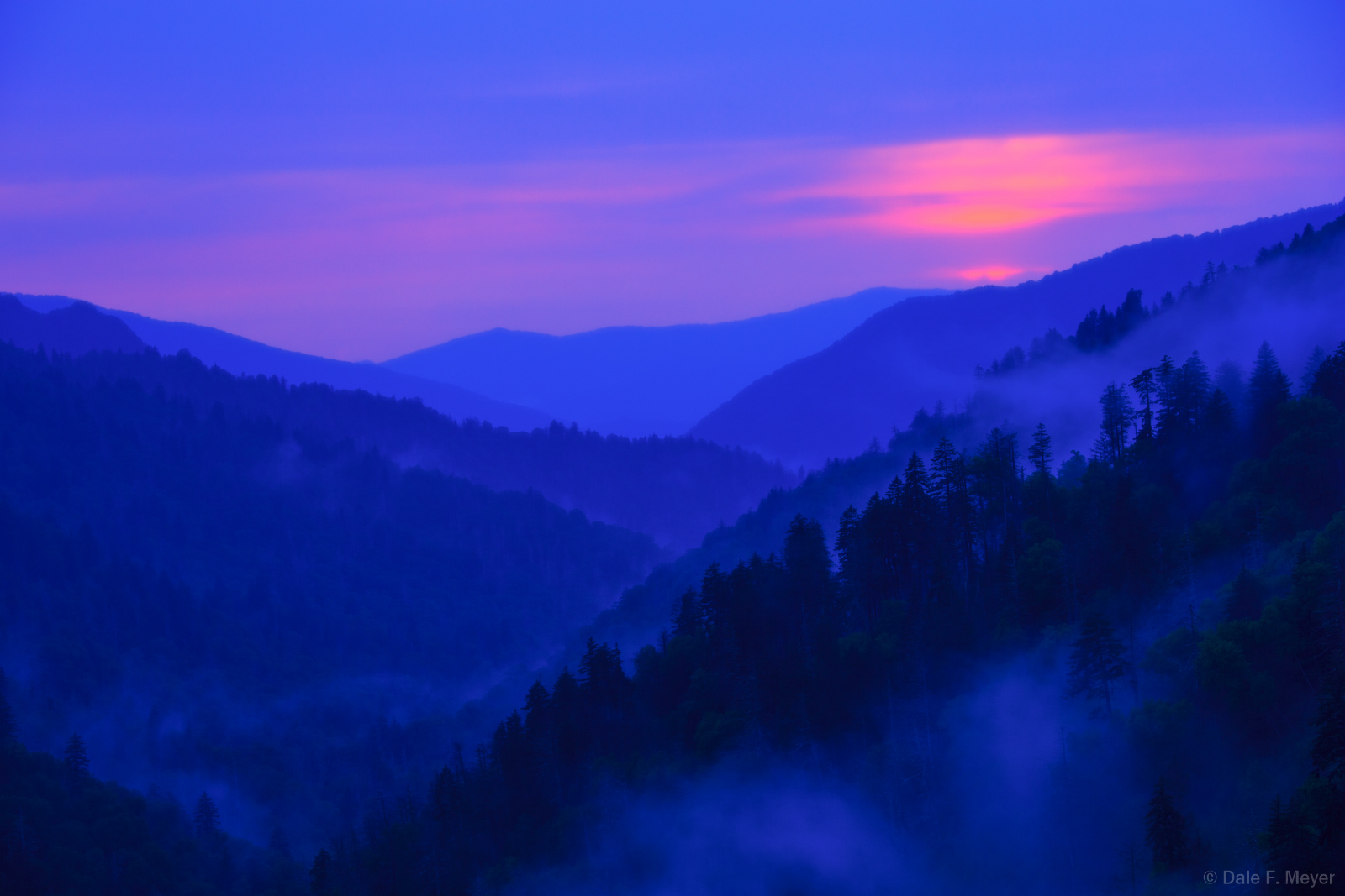 Great Smoky Mountains Tennessee,Mountain Sunset,Mountains and Overlooks Gallerie,fog, photo