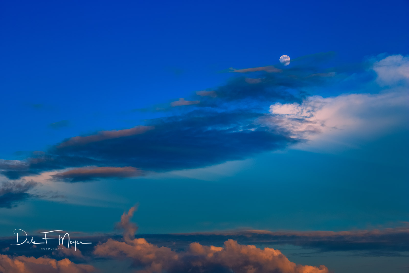 Costal,Moon,Outer Banks NC,windswept clouds., photo