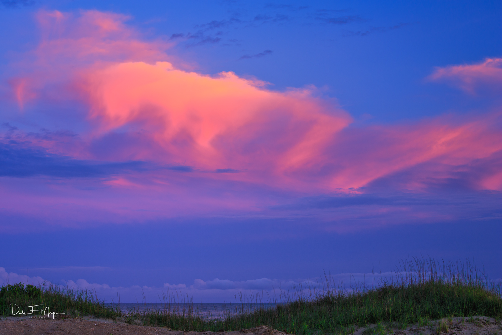 Cape Hateras Seashore,Outer Banks NC,Sunlit Cloud over Ocean, photo