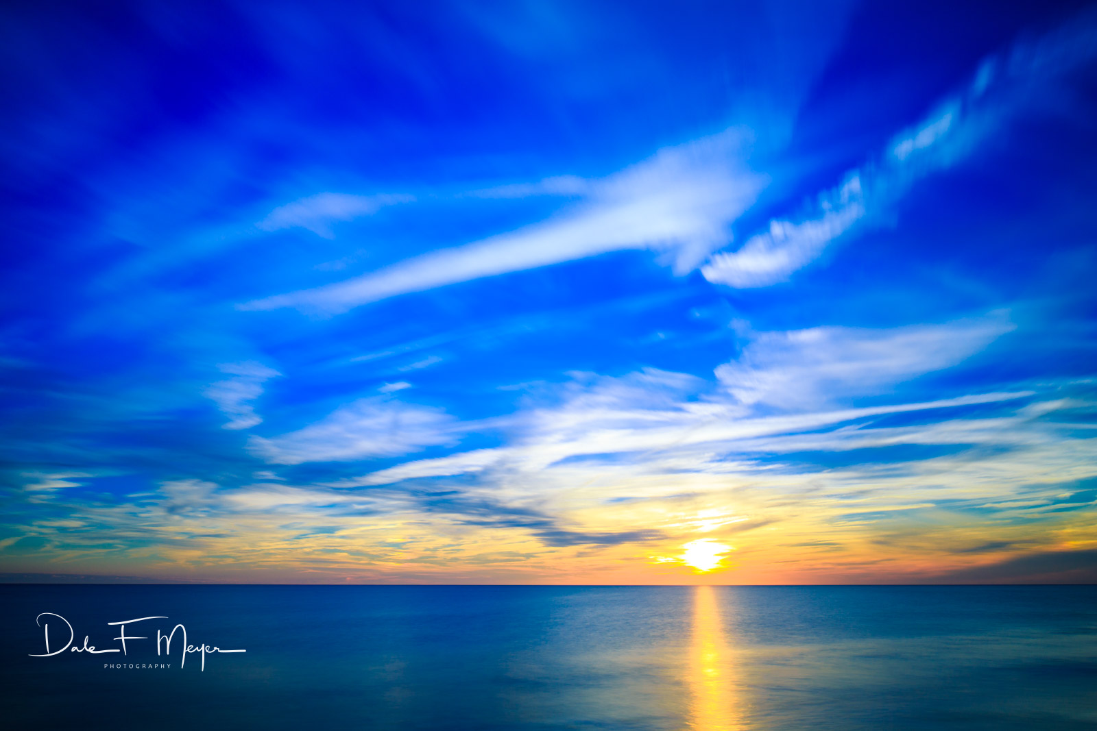 Long Exposure and a beautiful sunset from lower Oak Island North Carolina.