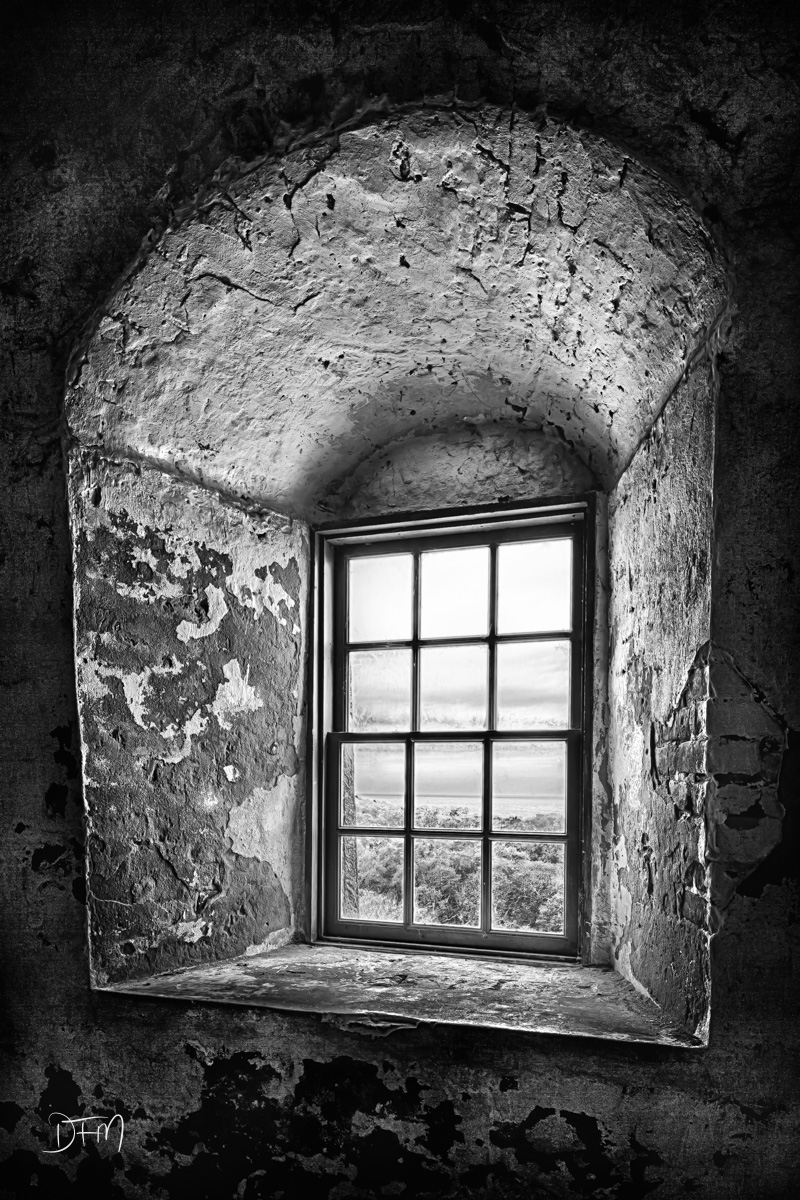 Bald Head Island,Old Baldy Lighthouse,black and white,window, photo