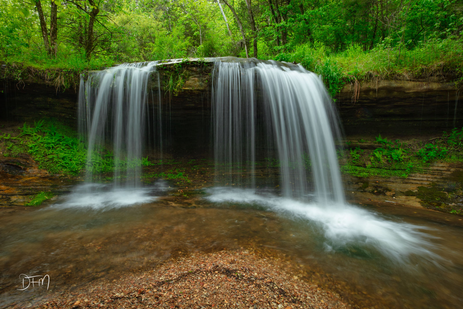 The Glory B Waterfall in full spring glory. This is a beautiful waterfall and the water is crystal clear no matter how much it...