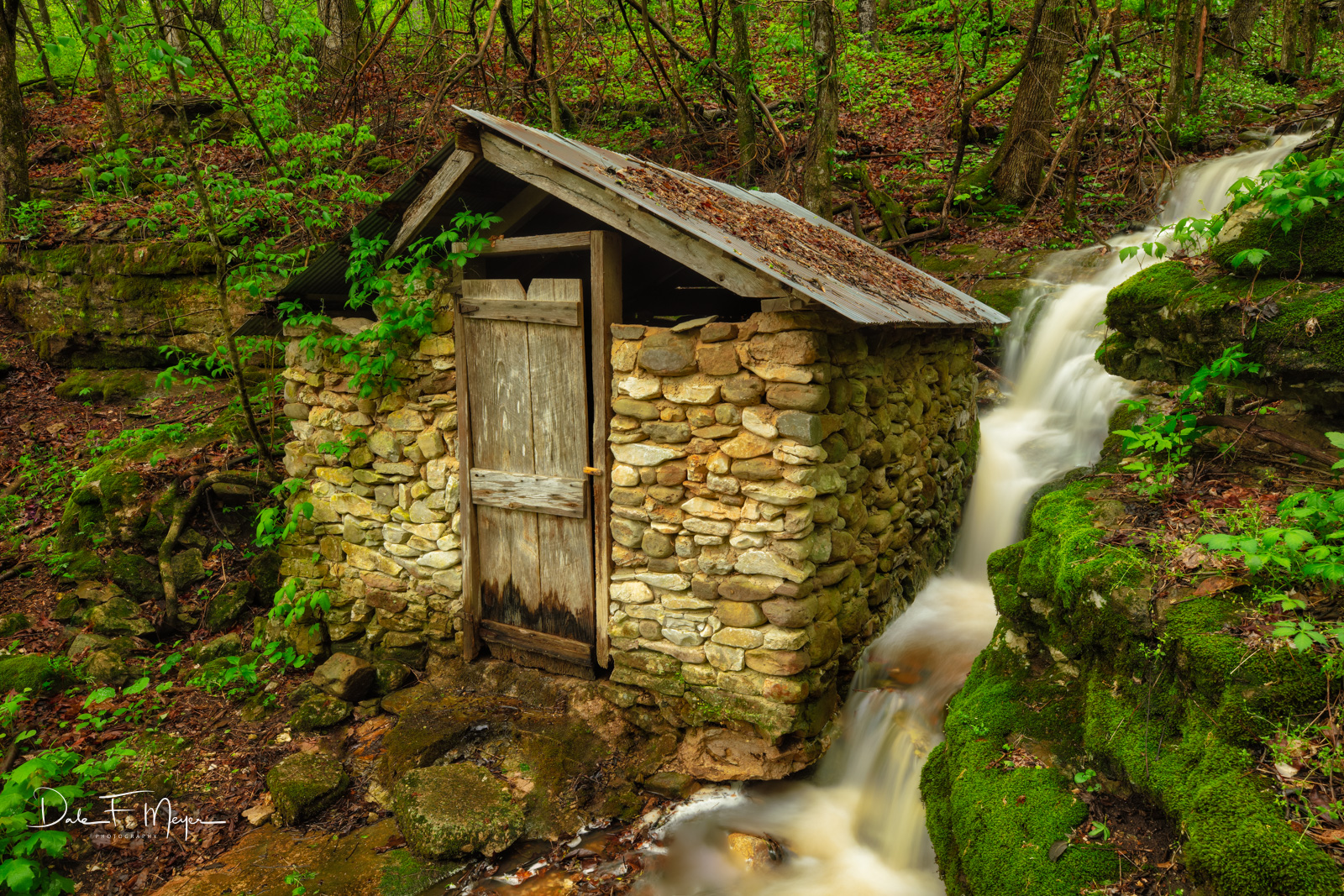 Old Stone Springhouse in the Boxley Valley Arkansas. These things were the refrigerators of the past and came into being around...