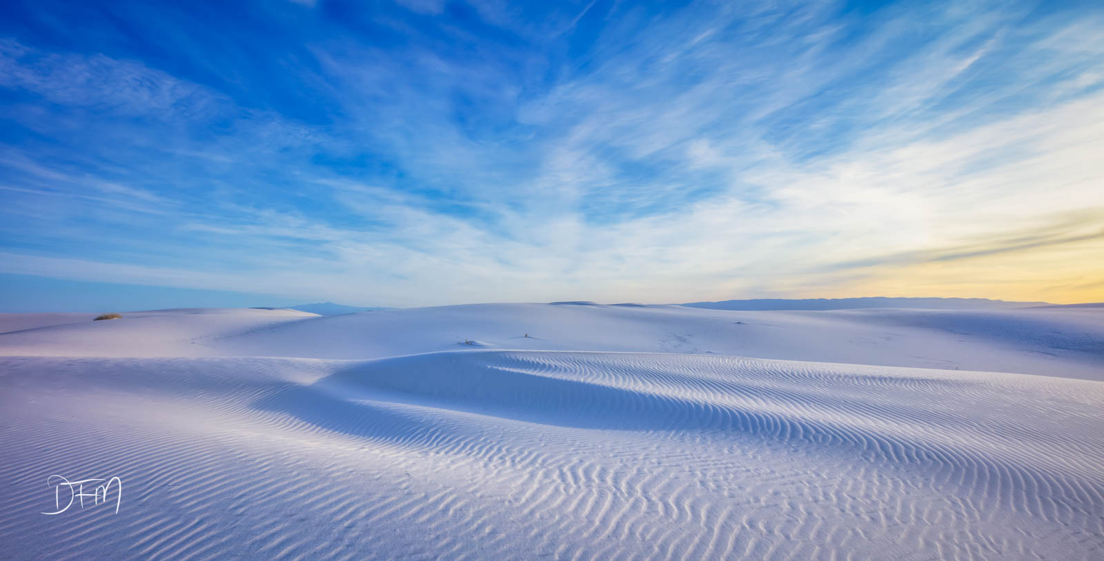 Sunrise on the White Sands National Park New Mexico. This place is way beautiful!