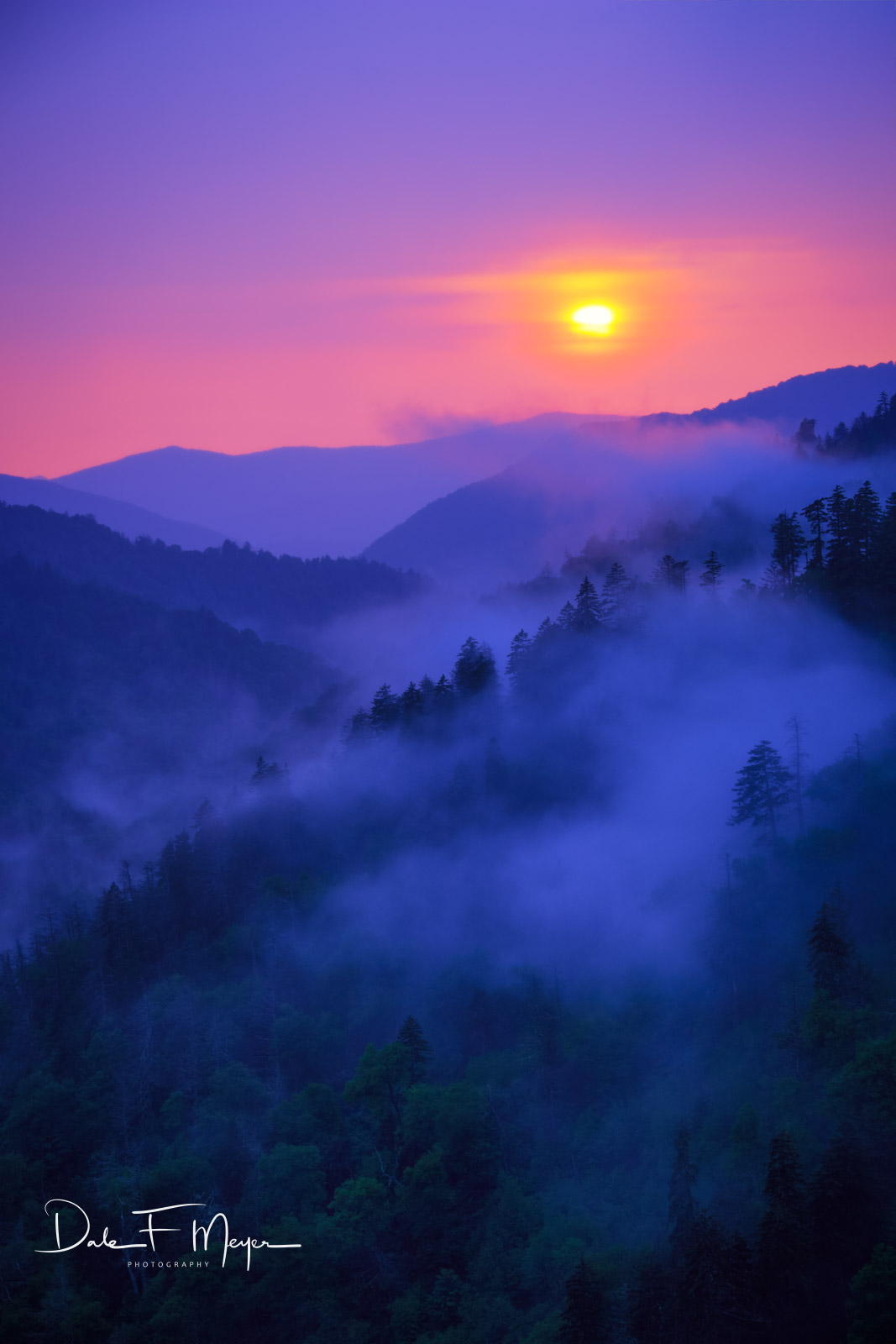 Great Smoky Mountains, Mountain Sunset, Mountains and Overlooks Gallerie, Spring 2013, photo