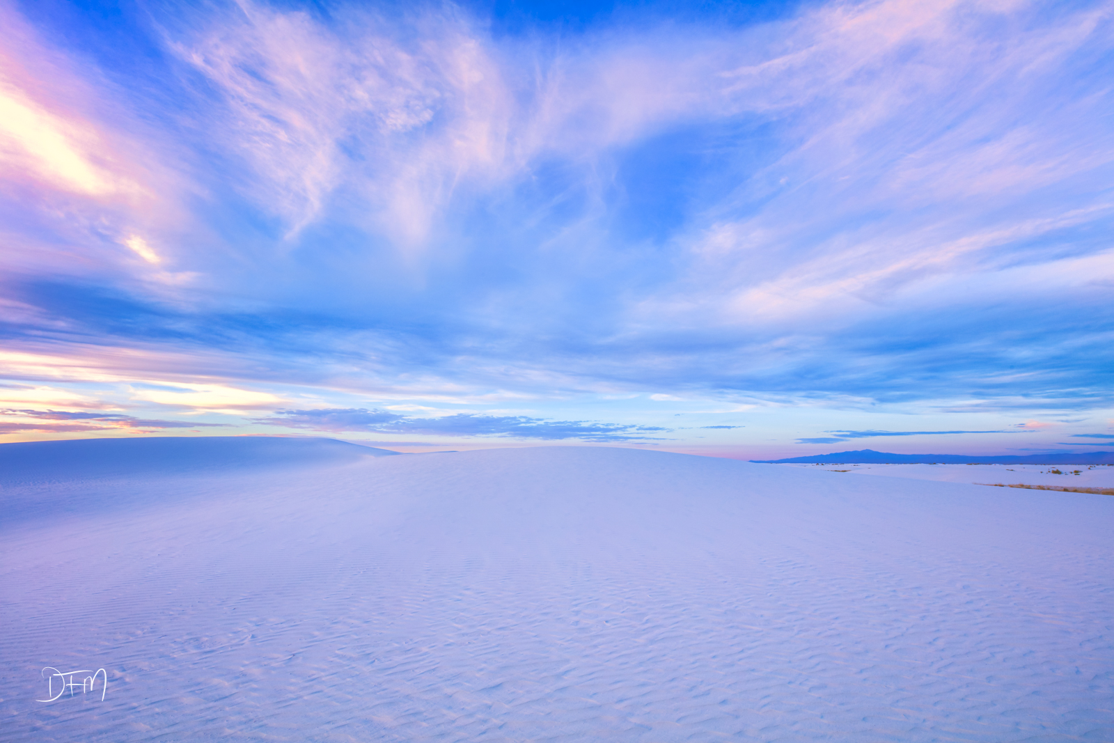 New Mexico, White Sands National Park, sunset, photo