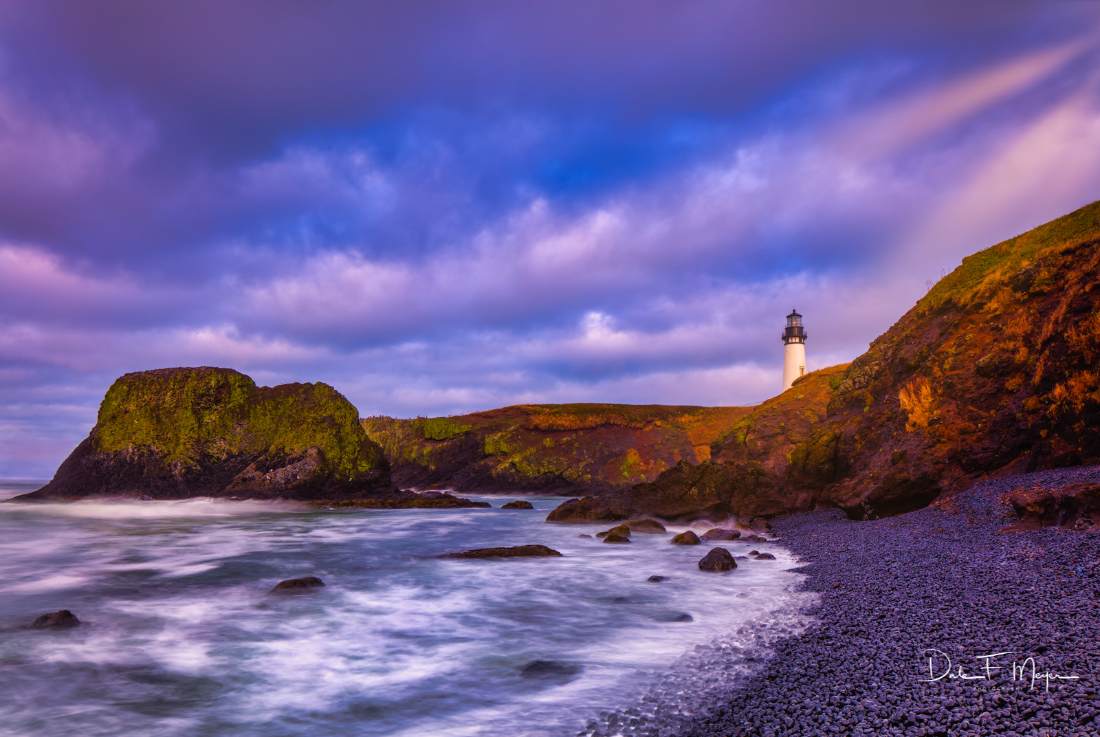 The Yaquina Head Lighthouse completed in 1873 utilized afour-wick lard-fueled lamp lit every day from sunrise to sunset until...