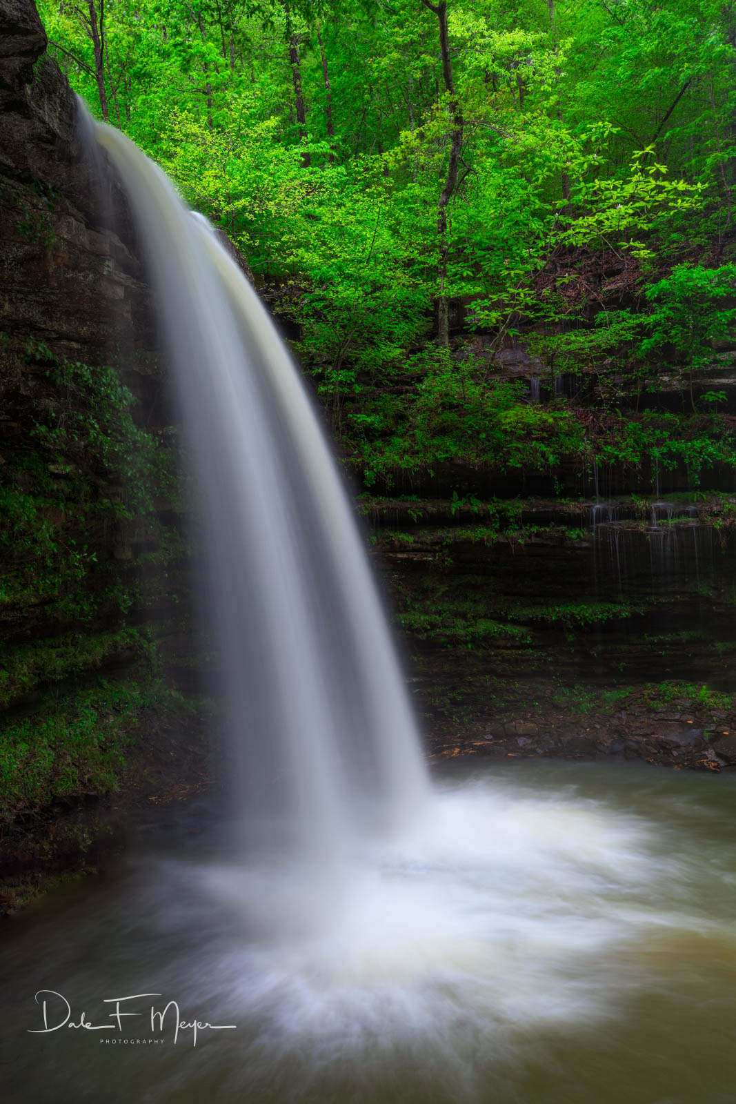 Comptons Falls, Spring 2017, Upper Buffalo Wilderness Area, rivers streams and waterfalls gallerie, waterfall, photo