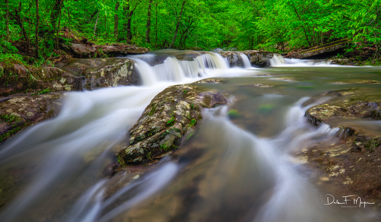 Spring 2017, Upper Buffalo Wilderness Area, Whitaker Creek Arkansas, ozark national forest, rivers streams and waterfalls gallerie, water flow, waterfall, photo