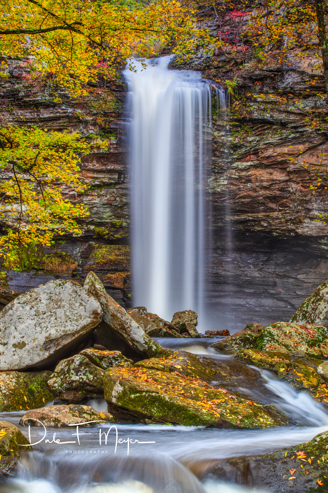 Cedar Falls is 90 feet high and roars loudly as the water pours over into the pool below, but at the same time has a quiet peaceful...