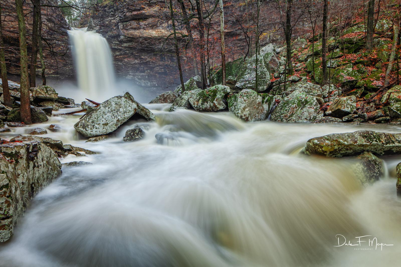 Cedar Creek,cedar falls,high water,late fall,petit jean,rivers streams and waterfalls gallery, rocks,water fall, photo