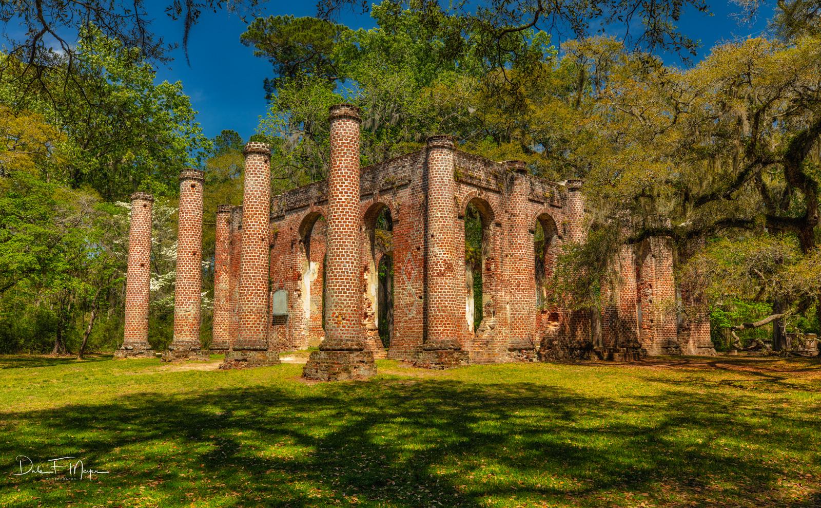 The Old Sheldon Church Ruins near YemasseeSouth Carolina. I like this shot because the balance of the large live oak&nbsp...