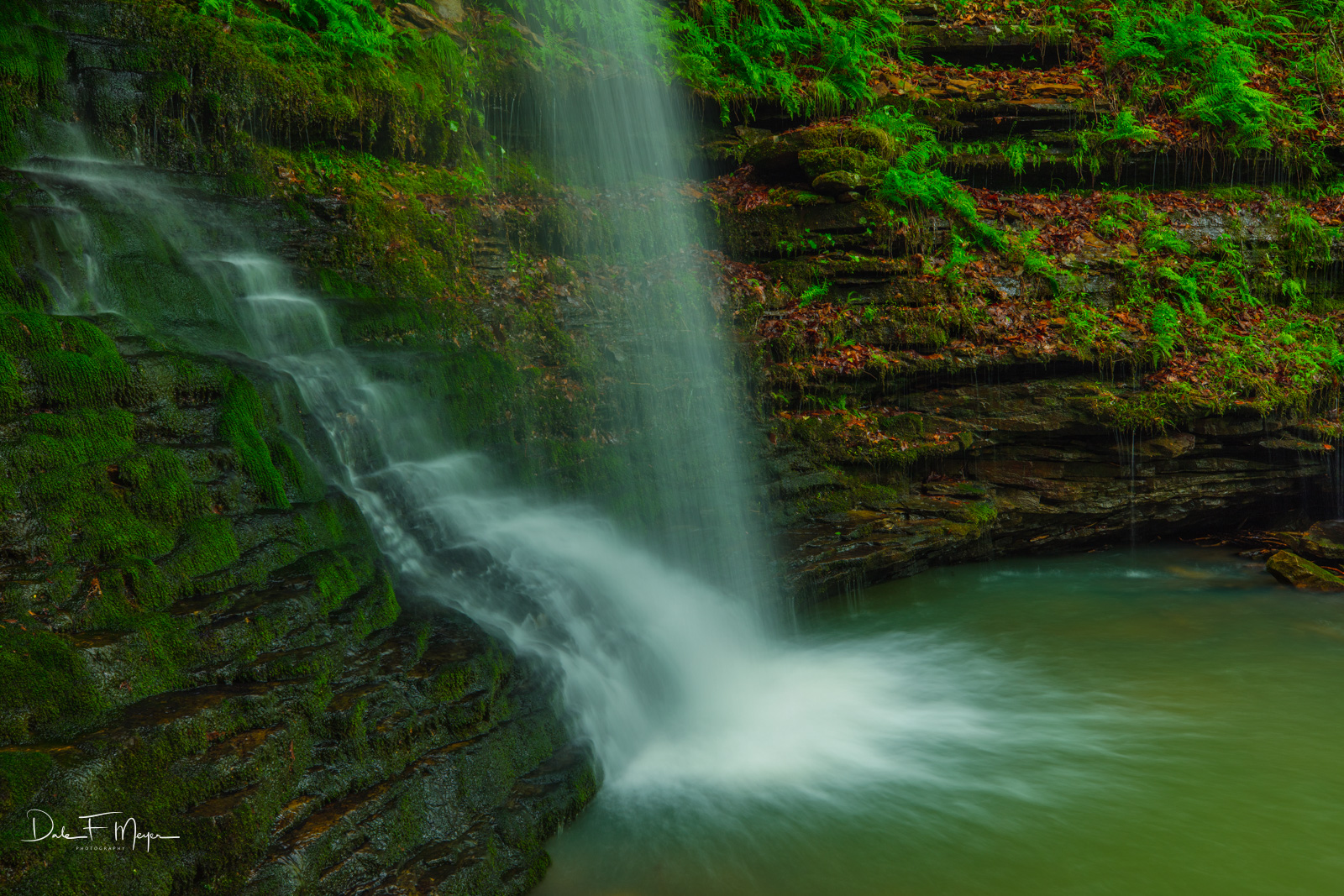 Base of the waterfall at Mule Trail Falls.I love being at the base of waterfalls in Arkansas in the springtime. The cool...
